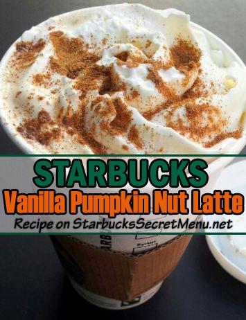 Vanilla Pumpkin Nut Latte