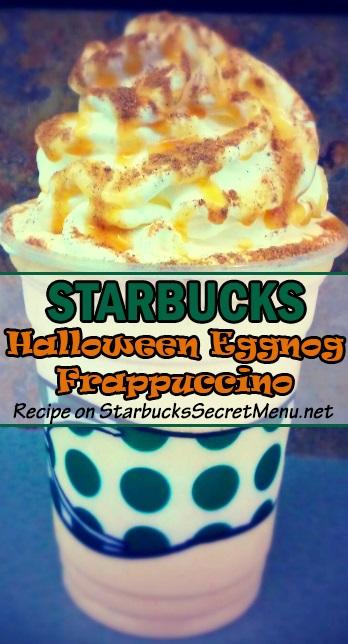 halloween eggnog frappuccino
