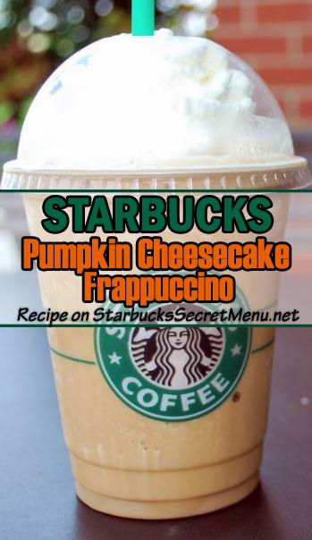 Pumpkin Cheesecake Frappuccino