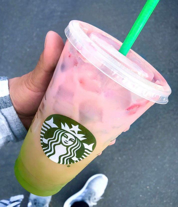 Starbucks Matcha Pink Drink