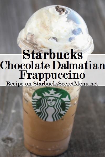 starbucks chocolate dalmatian frappuccino
