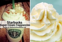 starbucks super cream frappuccino