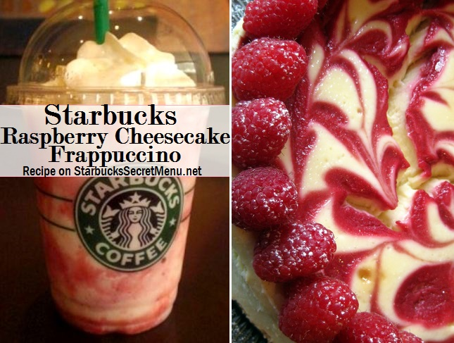 Starbucks Secret Menu Raspberry Cheesecake Frappuccino