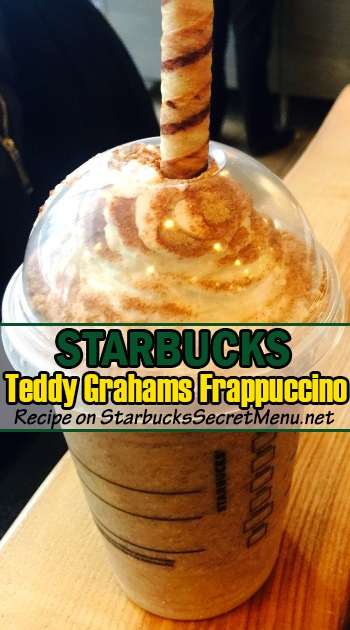 teddy grahams cracker frappuccino