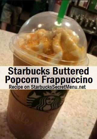 buttered popcorn frappuccino