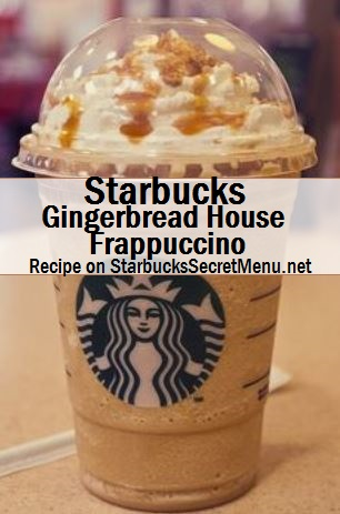 gingerbread house frappuccino