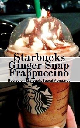 tarbucks ginger snap frappuccino
