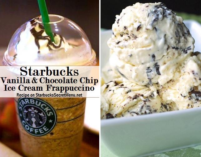 Starbucks Vanilla Chocolate Chip Ice Cream Frappuccino