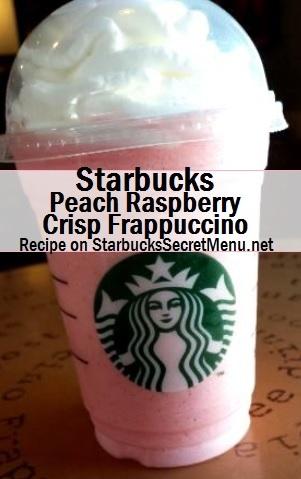 peach raspberry crisp frappuccino
