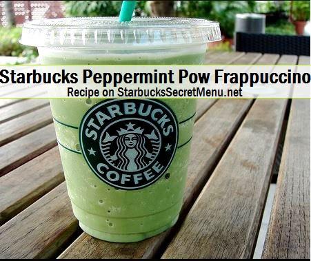 starbucks peppermint pow frappuccino