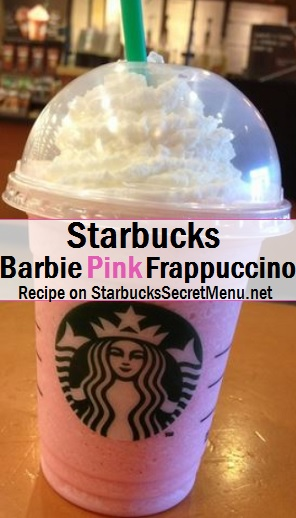 Starbucks Barbie Pink Frappuccino Starbucks Secret Menu