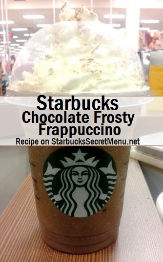 chocolate frosty frappuccino