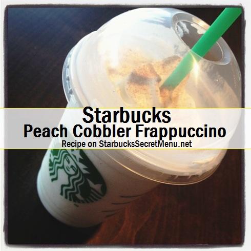 peach cobbler frappuccino