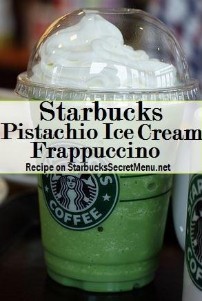 pistachio ice cream frappuccino