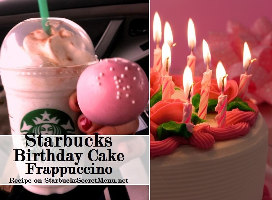 Amazing Starbucks Birthday Cake Cake Batter Frappuccino Starbucks Personalised Birthday Cards Paralily Jamesorg