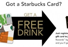starbucks card free drink