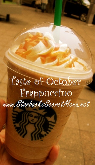 taste of october frappuccino