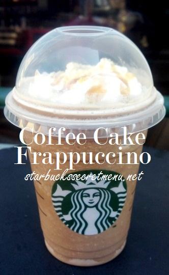 coffee cake frappuccino
