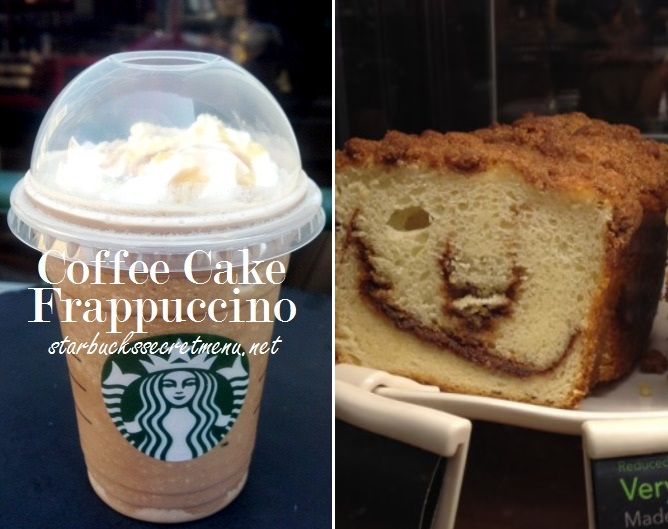 Starbucks Coffee Cake Frappuccino Starbucks Secret Menu