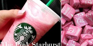 the pink starburst frappuccino