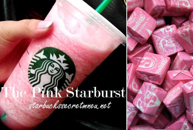 Starbucks The Pink Starburst Frappuccino Starbucks Secret Menu