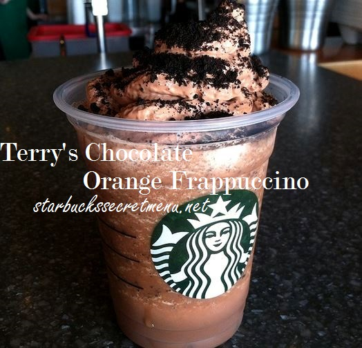 terry's chocolate orange frappuccino