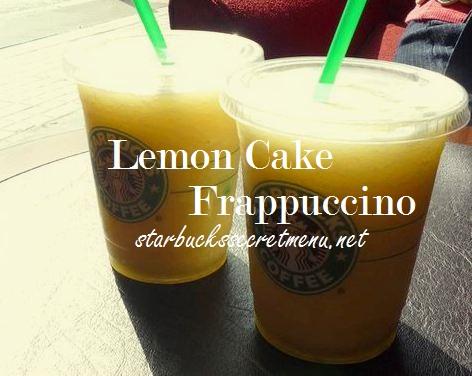 Starbucks Secret Menu Lemon Cake Frappuccino