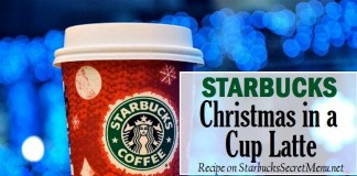 starbucks secret christmas in a cup latte