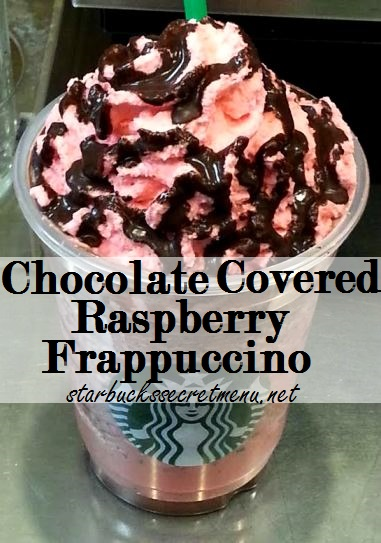 chocolate covered raspberry frappuccino