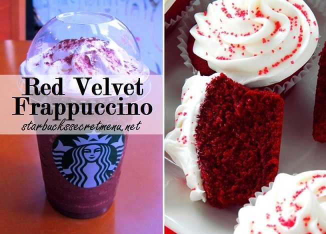 Starbucks Secret Menu Red Tuxedo Red Velvet Frappuccino