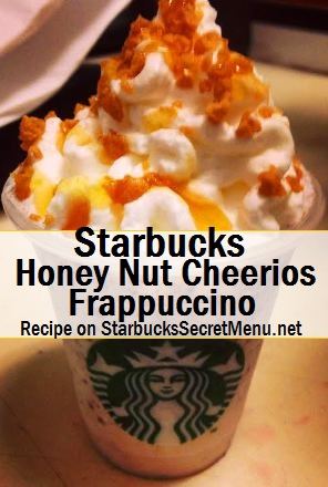 honey nut cheerios frappuccino