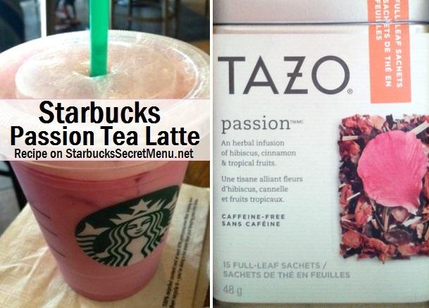 Passion Tea Latte | Starbucks Secret Menu