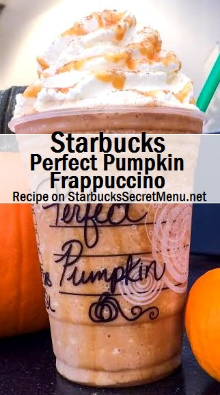 perfect pumpkin frappuccino