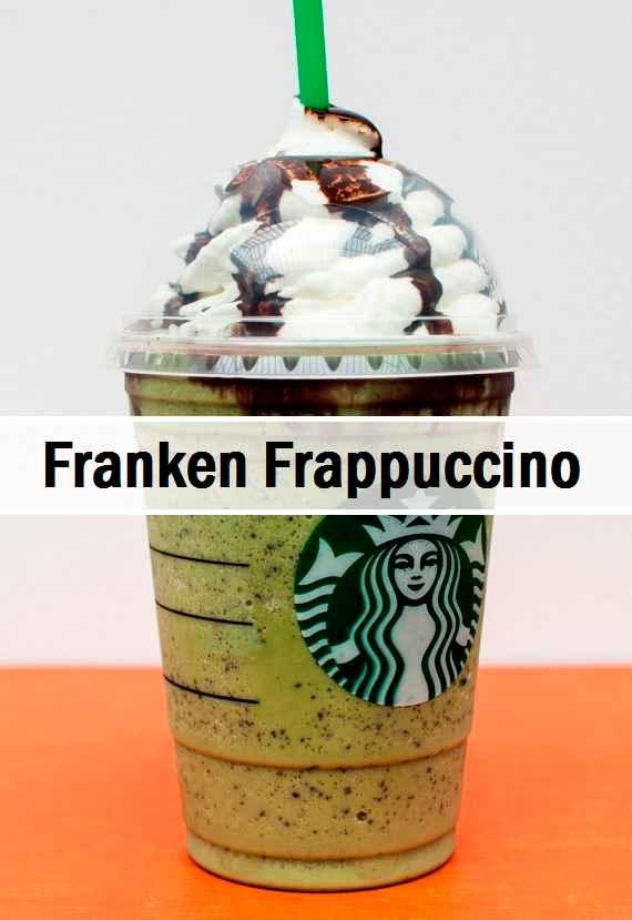 Starbucks Halloween Fraps 2020 Starbucks Franken Frappuccino | A Halloween Secret! | Starbucks