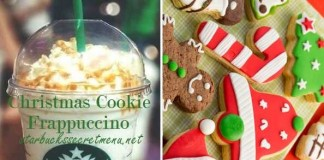 christmas cookie frappuccino