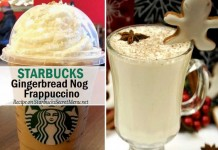 starbucks secret gingerbread nog frappuccino