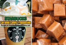starbucks caramel candy frappuccino