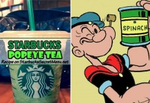 starbucks secret menu popeye tea