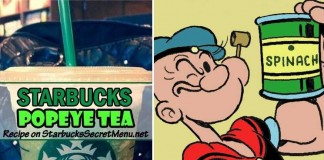 starbucks secret menu popeye tea