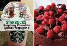 starbucks secret raspberry chocolate dream frappuccino