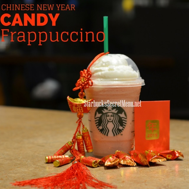 chinese new year candy frappuccino