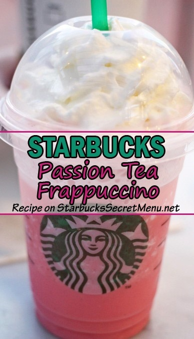passion tea frappuccino