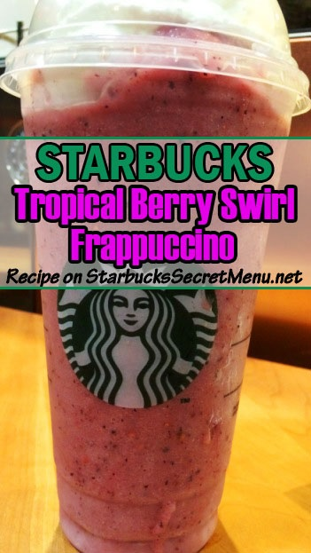 tropical berry swirl frappuccino