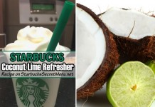 Starbucks coconut lime refresher