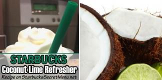Starbucks coconut lime refresher