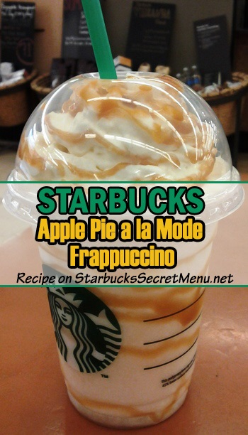 apple pie a la mode frappuccino