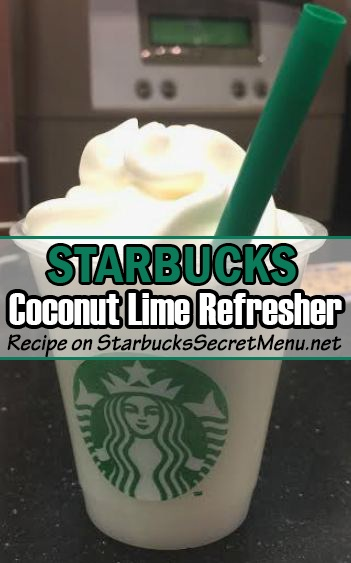 coconut lime refresher