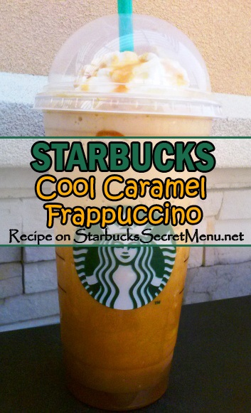 cool caramel frappuccino