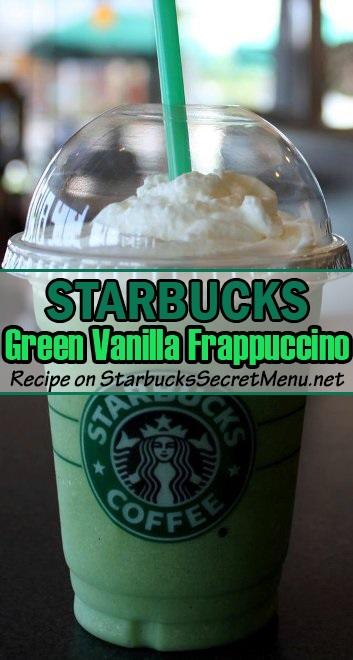 green vanilla frappuccino
