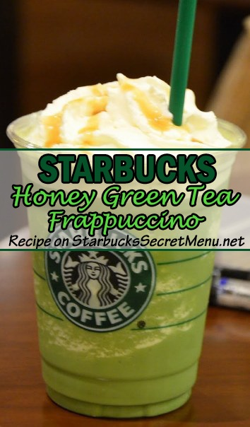 honey green tea frappuccino
